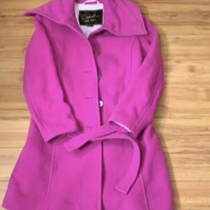 Coach Wool Blend Trench Coat Jacket